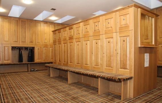A number of lockers are available to visitors